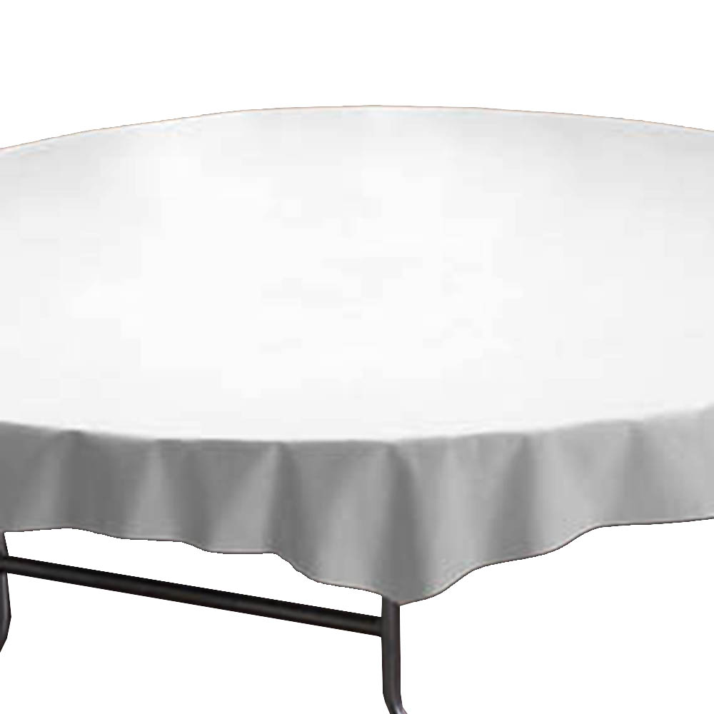 "Hoffmaster White 82"" Round Table Cover 112010"