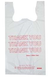 Spectrum White Printed Thank You T-shirt Bag 11-11121