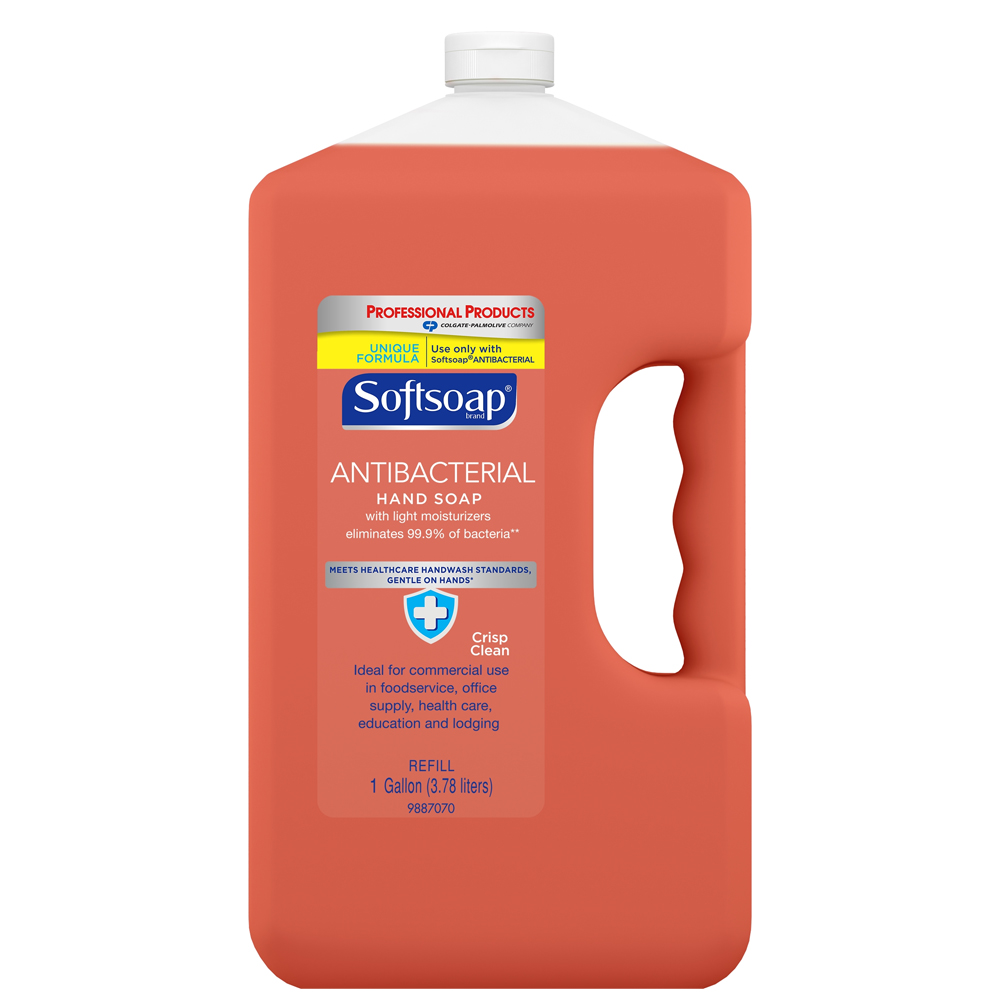 Colgate/Palmolive 1 Gallon Softsoap Anti-Bacterial Crisp Clean Refill 01903