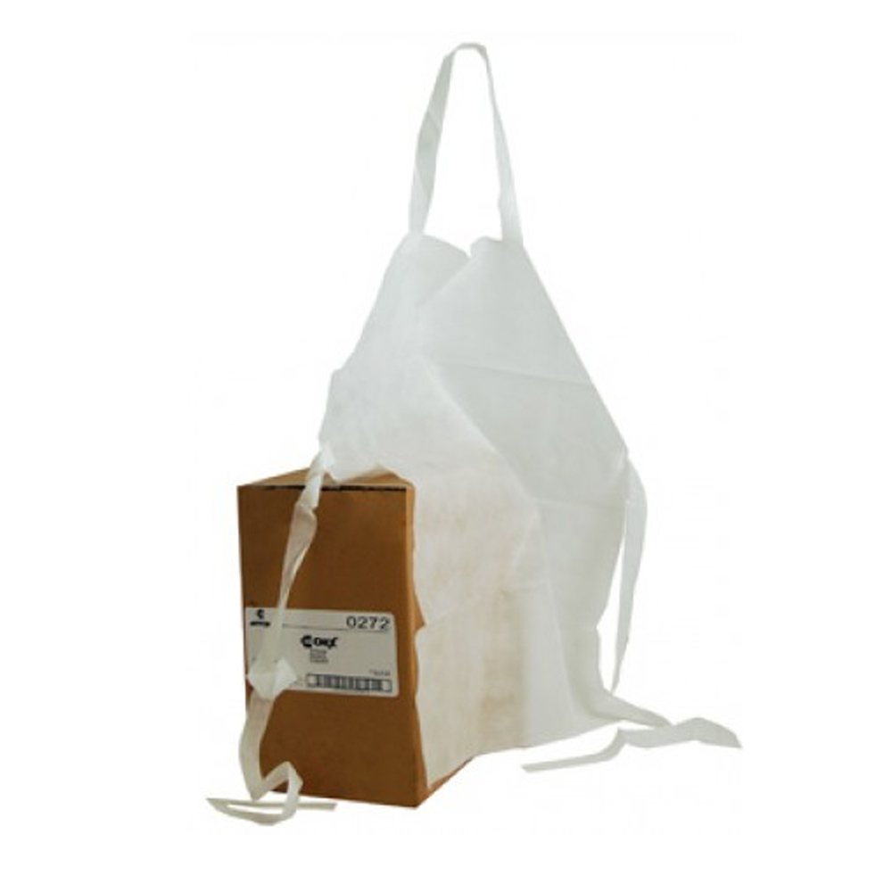 "Chicopee White 32""x27"" Foodservice Apron 0272"