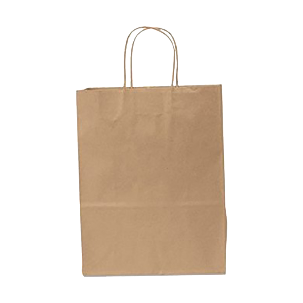 "Duro Bag Kraft 10""x5""x13"" Missy Shopping Bag 28631"