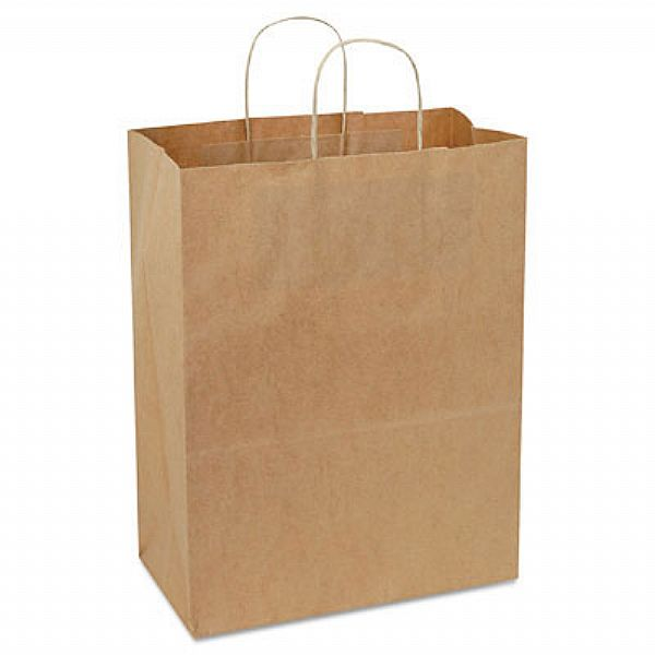 "Duro Bag Kraft 13""x7""x17"" Supermart Shopping Bag 28632"