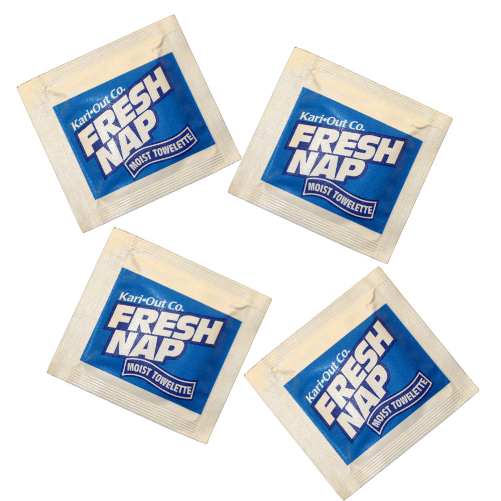 "Specialty Quality Blue 4.5""x 6.2"" Fresh nap Moist Wet nap 6700263"