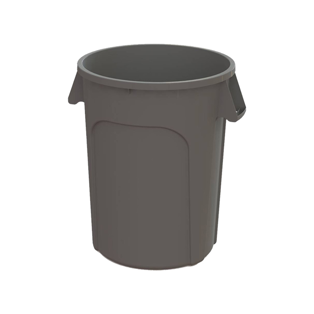 Impact Products Gray 32 Gallon Huskee Bulk Pack   Round Waste Container 3200GY