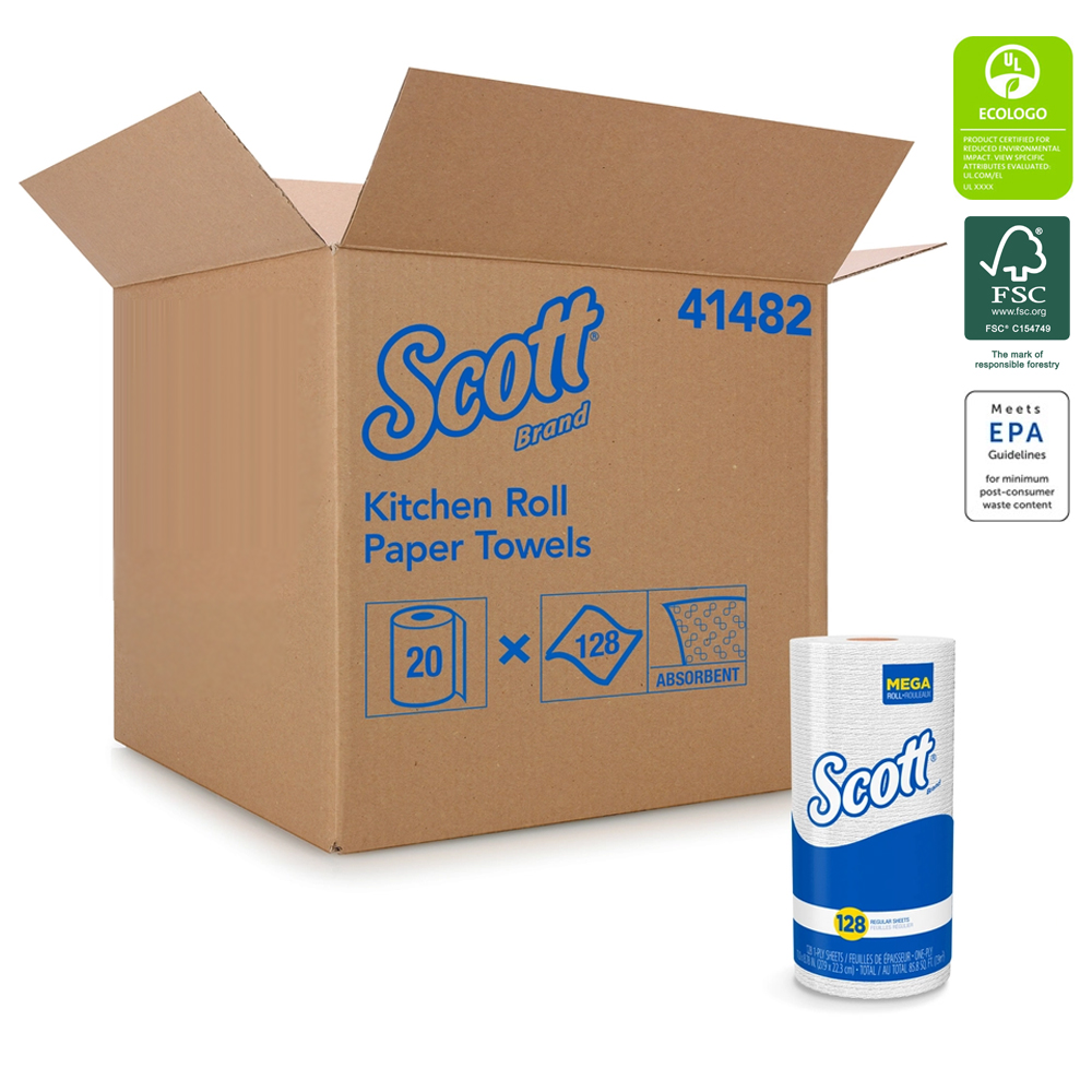 Kimberly Clark White Scott Kitchen Roll Towel 41482