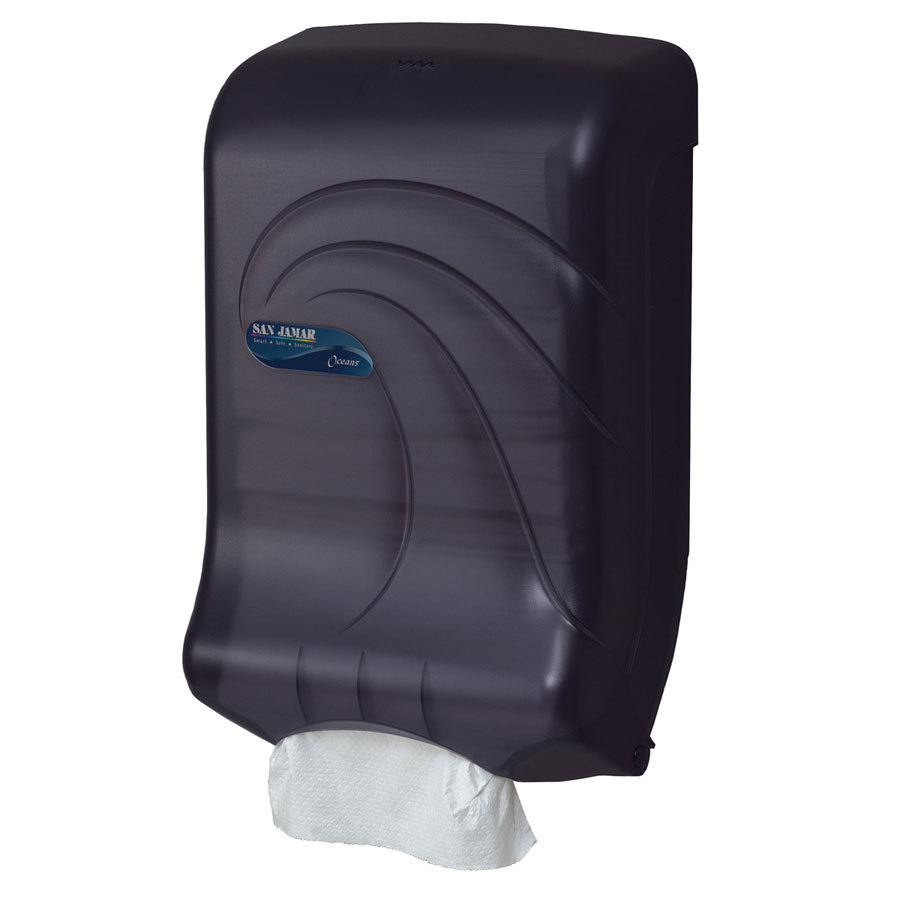 San Jamar Black Pearl C-Fold And Multi-Fold Towel Dispenser T1790TBK