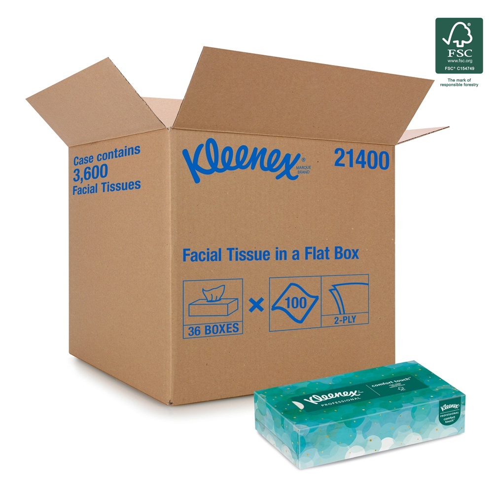 Kimberly Clark White Kleenex Facial Tissue 21400