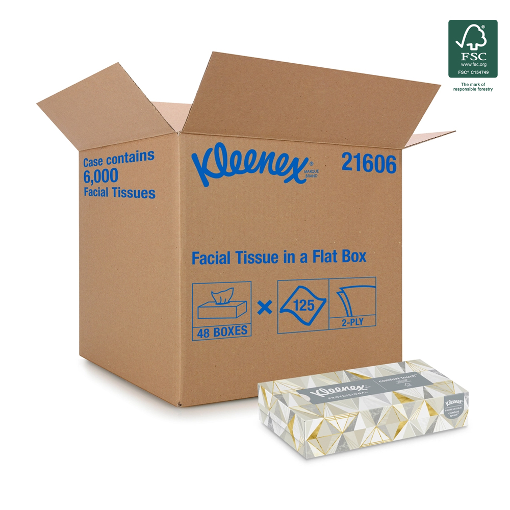 Kimberly Clark White Kleenex Facial Tissue 21606