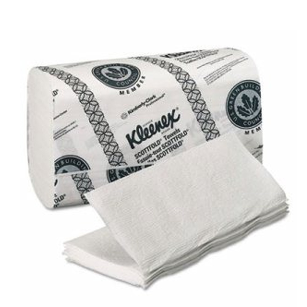 Kimberly Clark White Kleenex Scott Fold 1/2 Fold Towel 13253