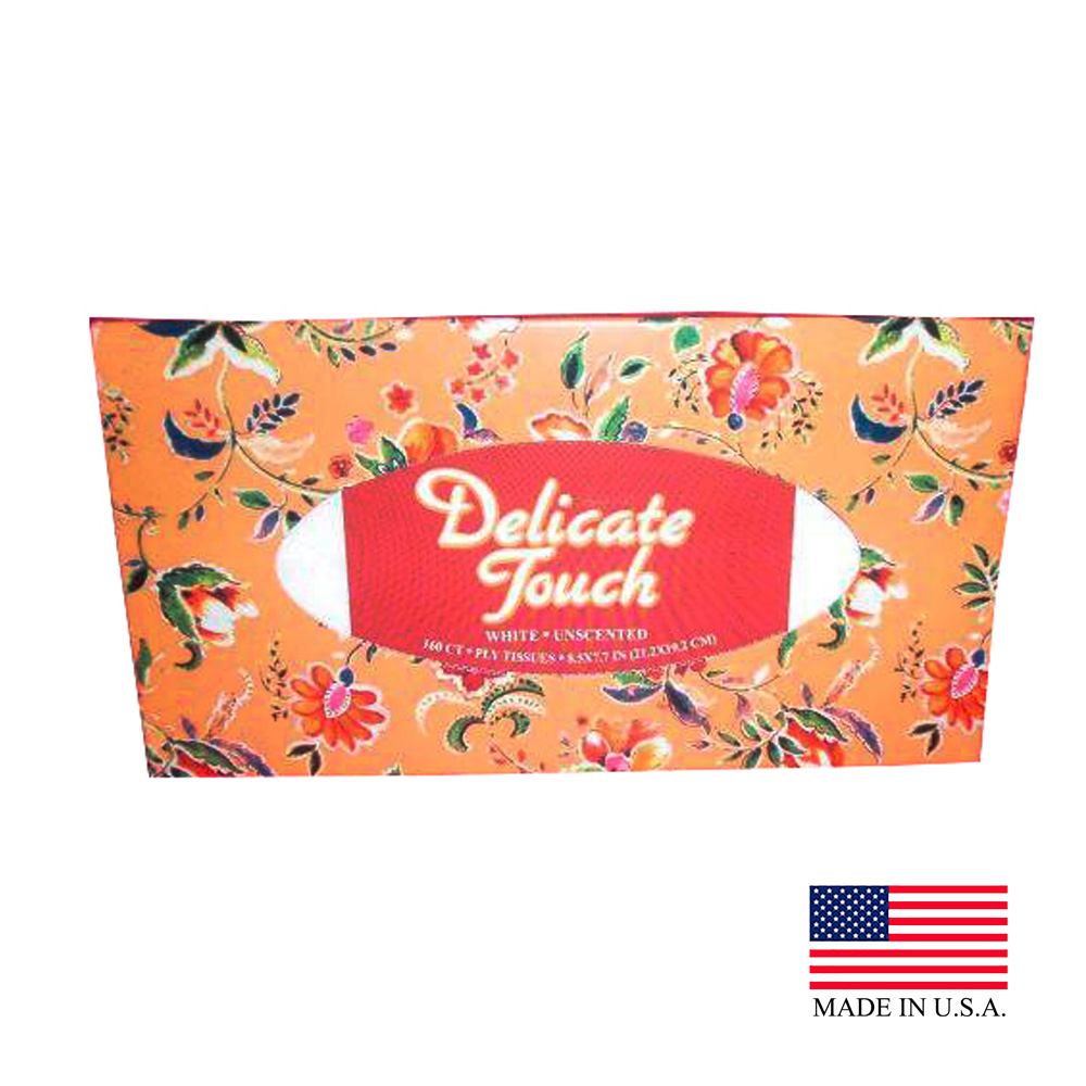 US Alliance White 2ply Delicate Touch Facial Tissue 50175