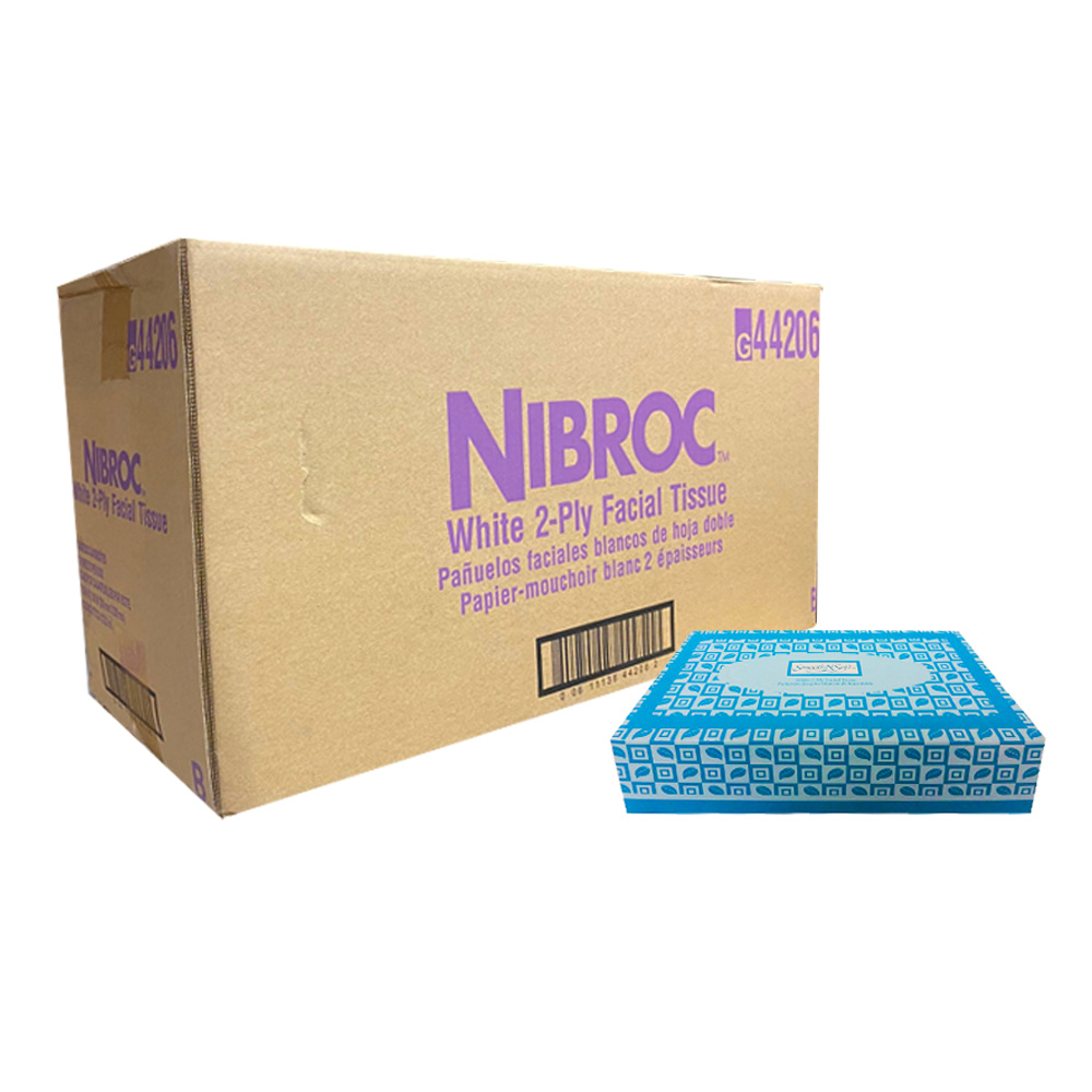 Nibroc White 100 Count Facial Tissue T100VAP