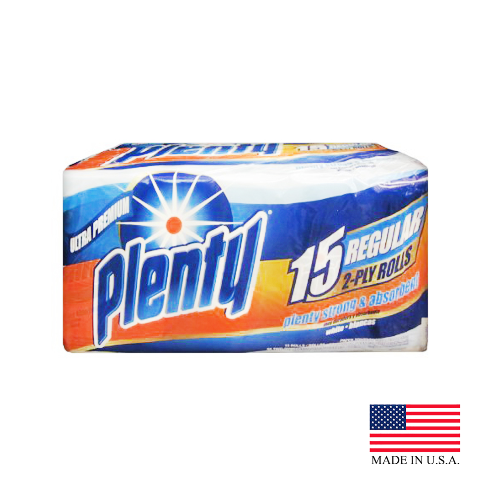 Plenty White 2ply 52 Sheet Kitchen Roll Towel 296980
