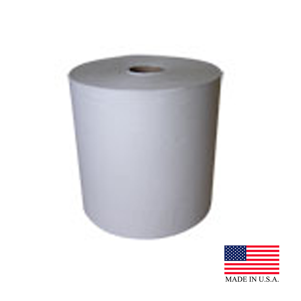"Nittany Paper White 8"" Executive Universal Roll Towel NP-608-800P"