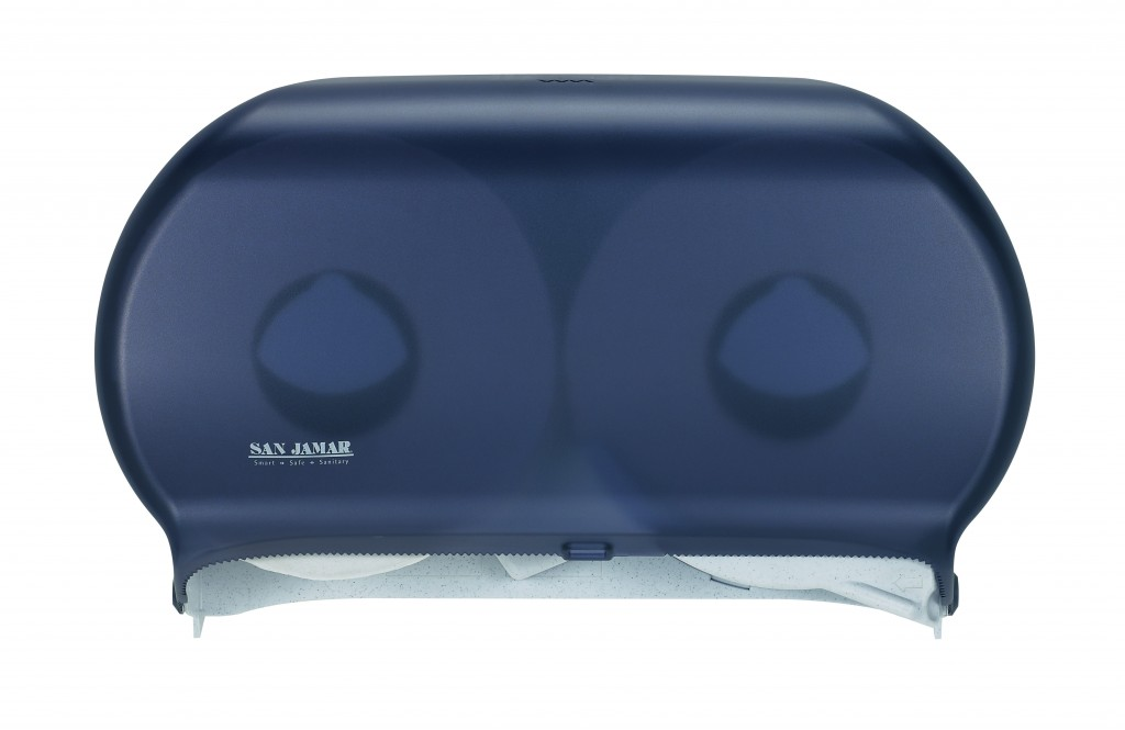 "San Jamar Black Pearl 9"" Twin Roll Towel Dispenser R4000TBK"