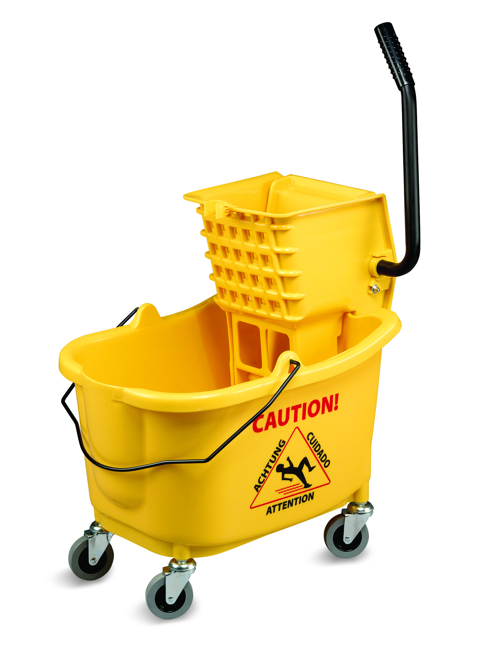 Janico Yellow 35qt Mop Bucket And Wringer 1010