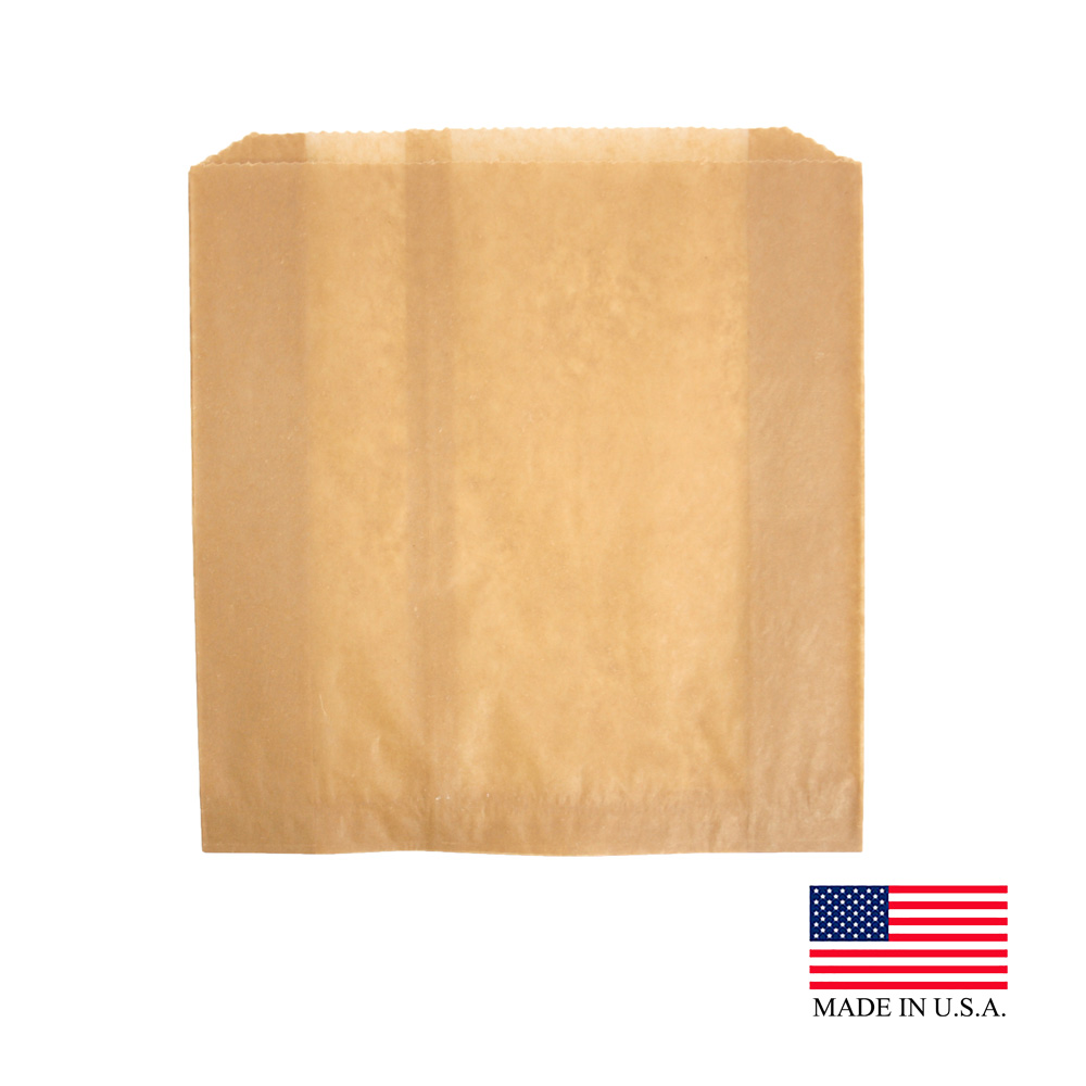 "Hospital Specialty Kraft 9""x10.5""x3"" Waxed Paper Liner 6141"