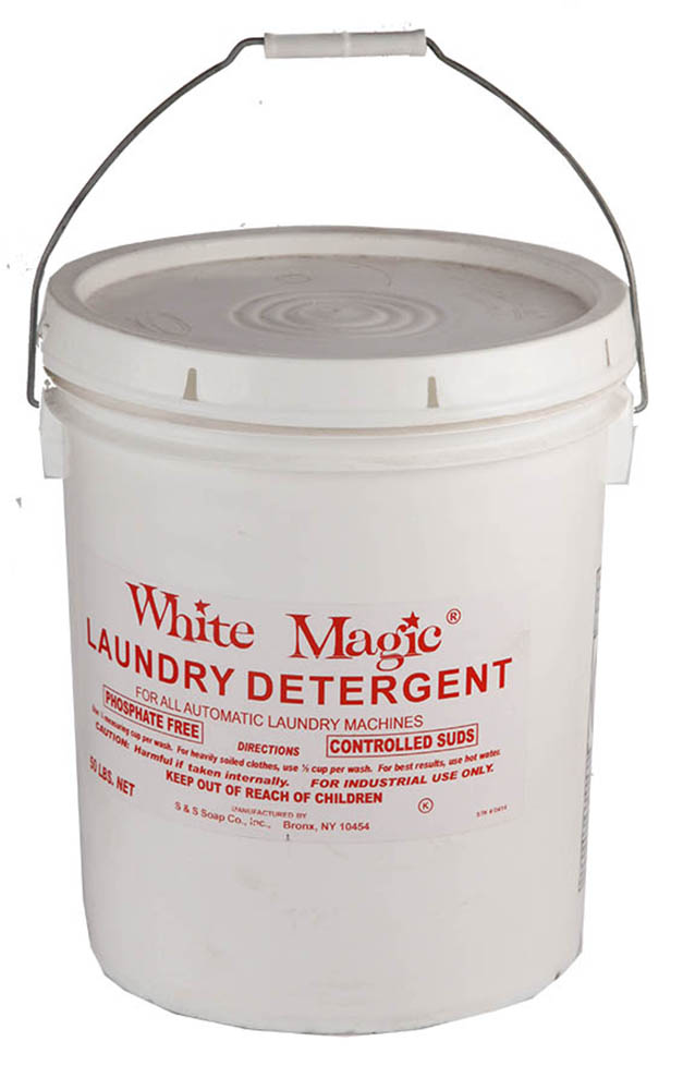 S&S Soap White 50lb Pail Magic Launderall Detergent For Automatic Machines WHT MAGIC