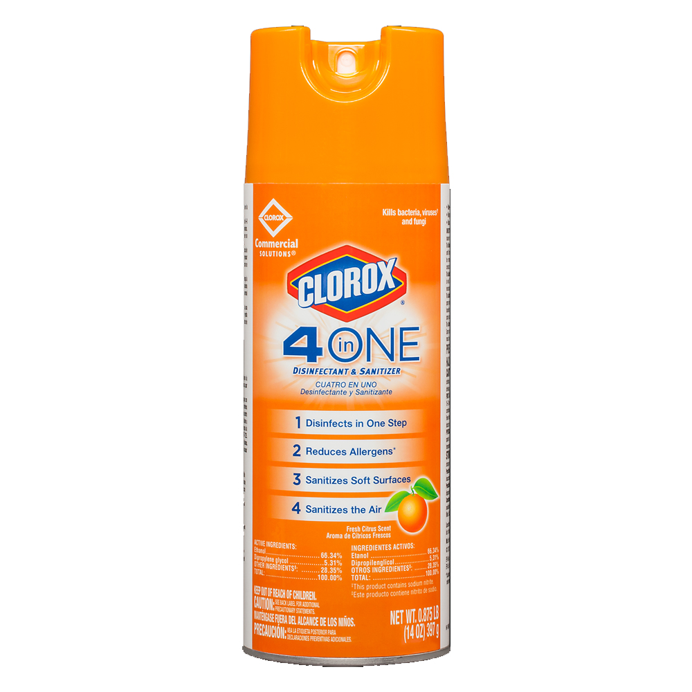 The Clorox Sales Company 14oz Clorox 4 In One     Disinfectant And Sanitizer Spray 31043