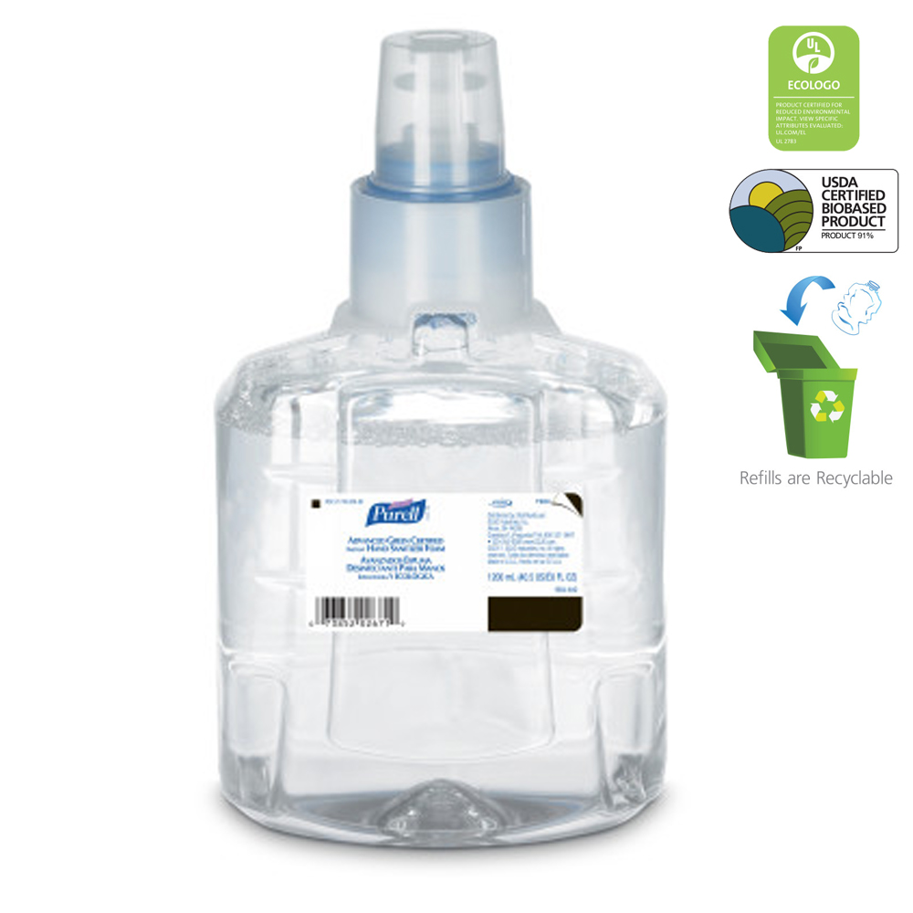 Gojo 1200ml Purell Advanced Green Certified Instant Hand Sanitizing Foam Refill 190402