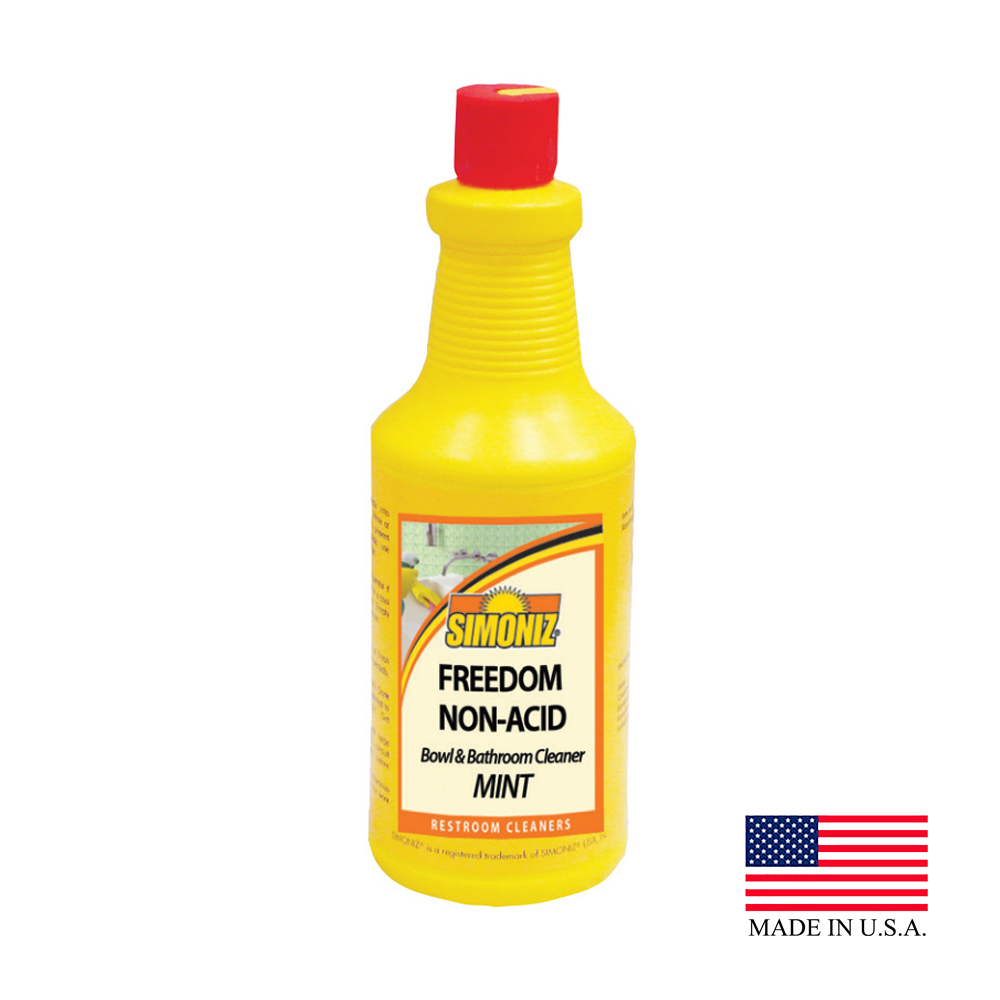 Simoniz 1qt Freedom Non Acid Mint Scented Bowl And Bathroom Cleaner F1232012