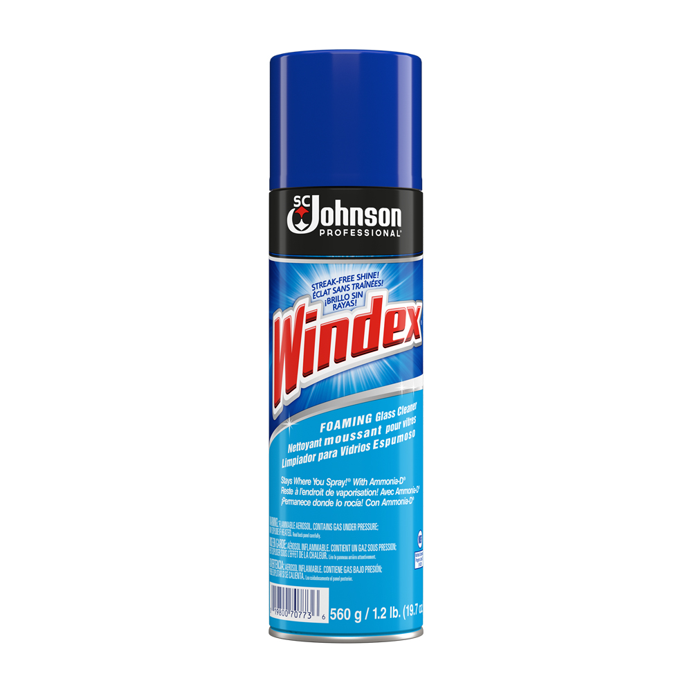Diversey/SC Johnson 19.7oz Windex Powered Foaming Glass Cleaner 990129