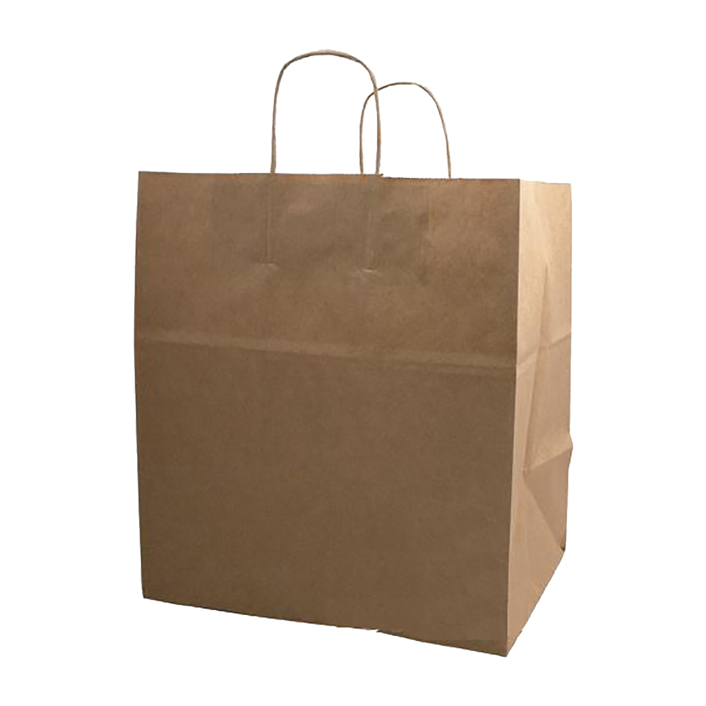 "Duro Bag Kraft 9""x5.75""x13.5"" Kary Shopping Bag 87098"