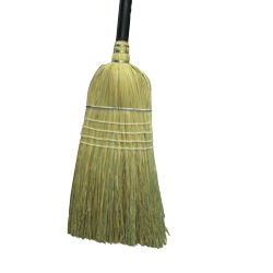 "Culicover & Shapiro Black 56"" Janitor Corn Broom 2028"