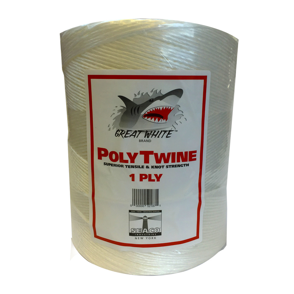 Seaco White 1ply Atlas Poly Twine 650