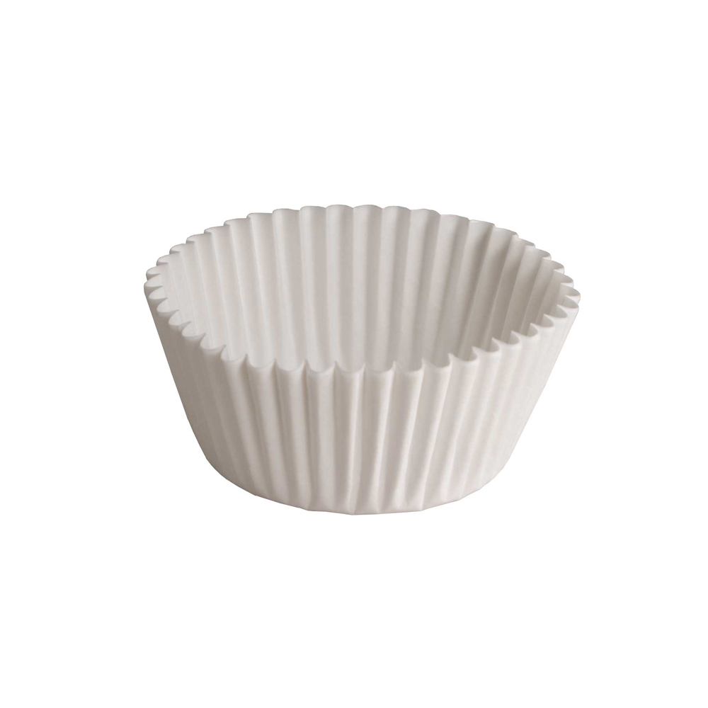 "Hoffmaster White 4.5"" Fluted Baking Cup 610032"