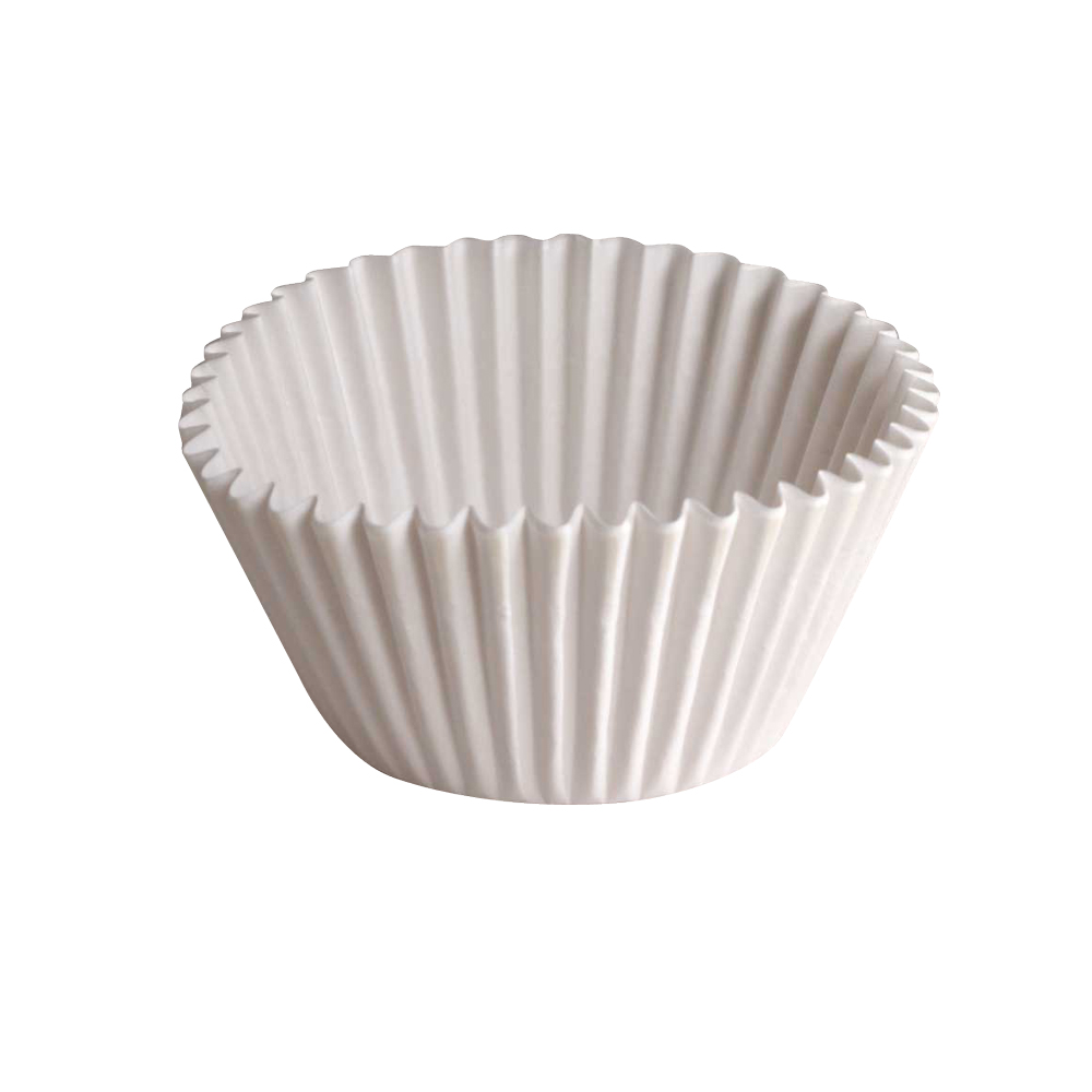 "Hoffmaster White 6"" Fluted Baking Cup 610070"