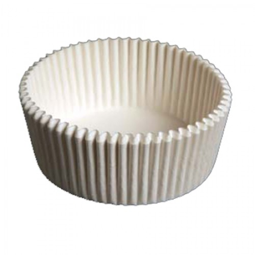 "Lapaco Paper White 4.5"" Fluted Baking Cup C600-450200-CDS"
