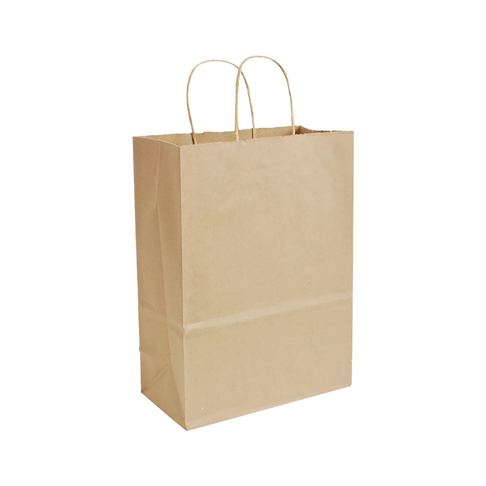"Conco Paper Bags Kraft 9""X6""X13"" Shopping Bag     (Trim Kary) Size 9136K"