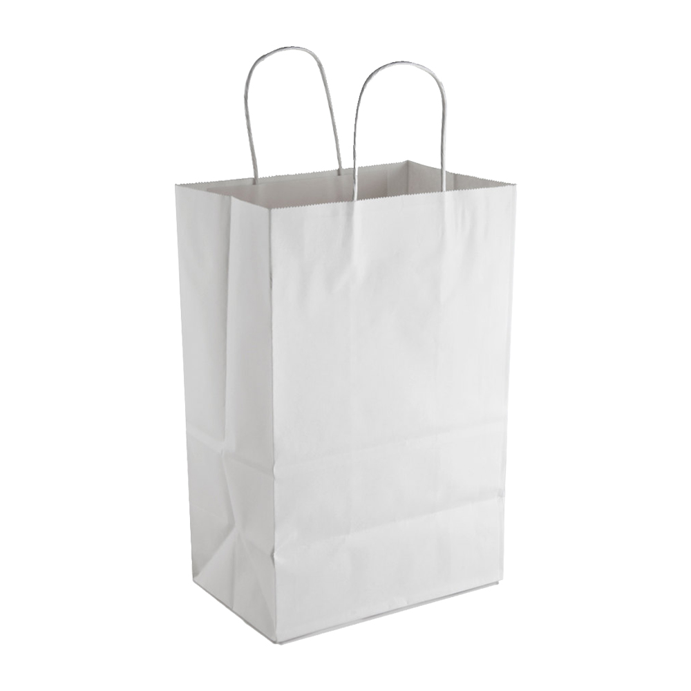 "Conco Paper Bags White 9""X6""X13"" Shopping Bag     (Trim Kary) Size 9136W"