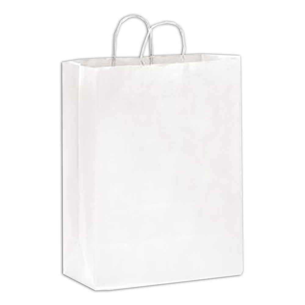 "Conco Paper Bags White 13""x7""x17"" Shopping Bag    (Supermarket) Size 13177W"
