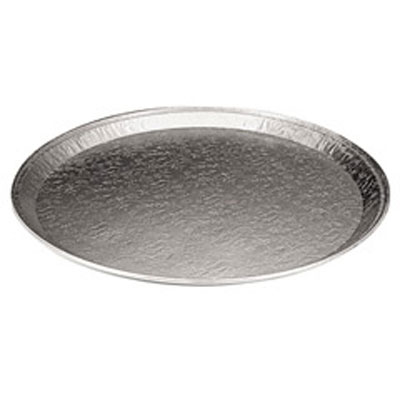 "Pactiv Aluminum 12"" Round Flat Tray 451212A"