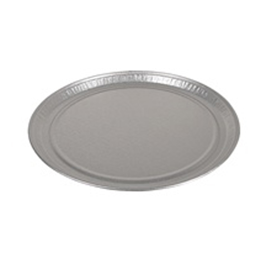 "Pactiv Aluminum 16"" Round Flat Tray 451612A"