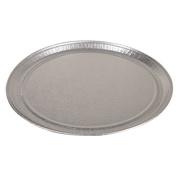 "Pactiv Aluminum 18"" Round Flat Tray 451812A"