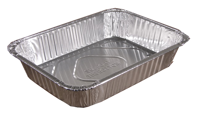 "Pactiv Aluminum 14 1/4"" X 10 5/8"" X 2 7/8"" Steam  Table Bulk Food Pan 6264XH"