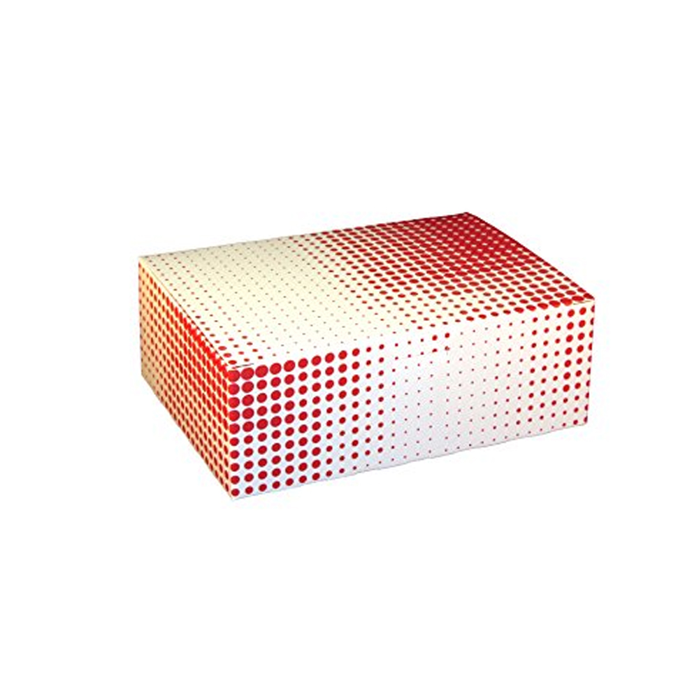 "Specialty Quality Red Plaid 7""x5""x2.5"" Small Tuck Top Snack Chicken Box 3503"