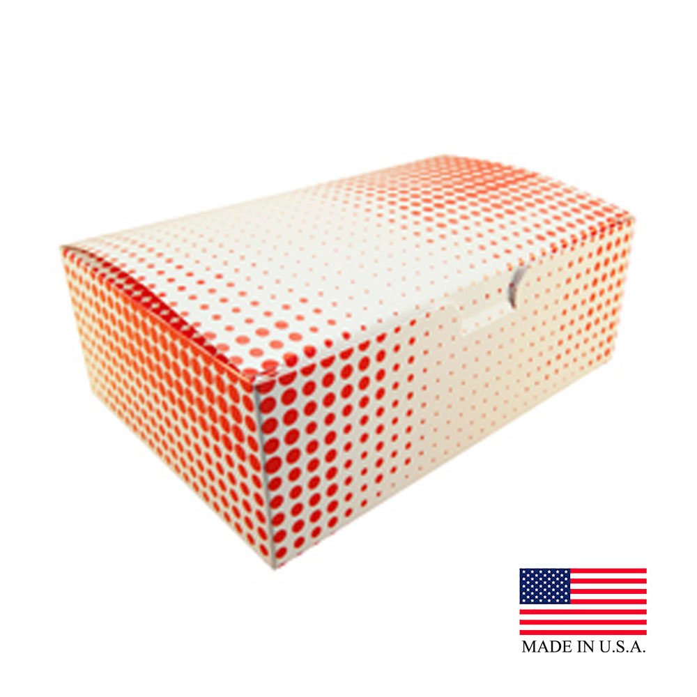 "Specialty Quality Red Plaid 9""x5""x3"" Regular Chicken Box 3505"