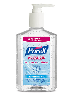 Gojo Clear 8oz Purell Instant Hand Sanitizer Nxt Pump Bottle 9652-12