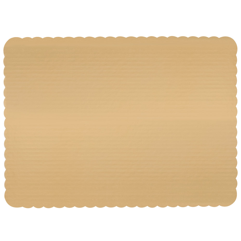 "Vineland Packaging Gold 25.5""x17.5"" Full Sheet    Laminated Corrugated Double Wall Cake Board 1"