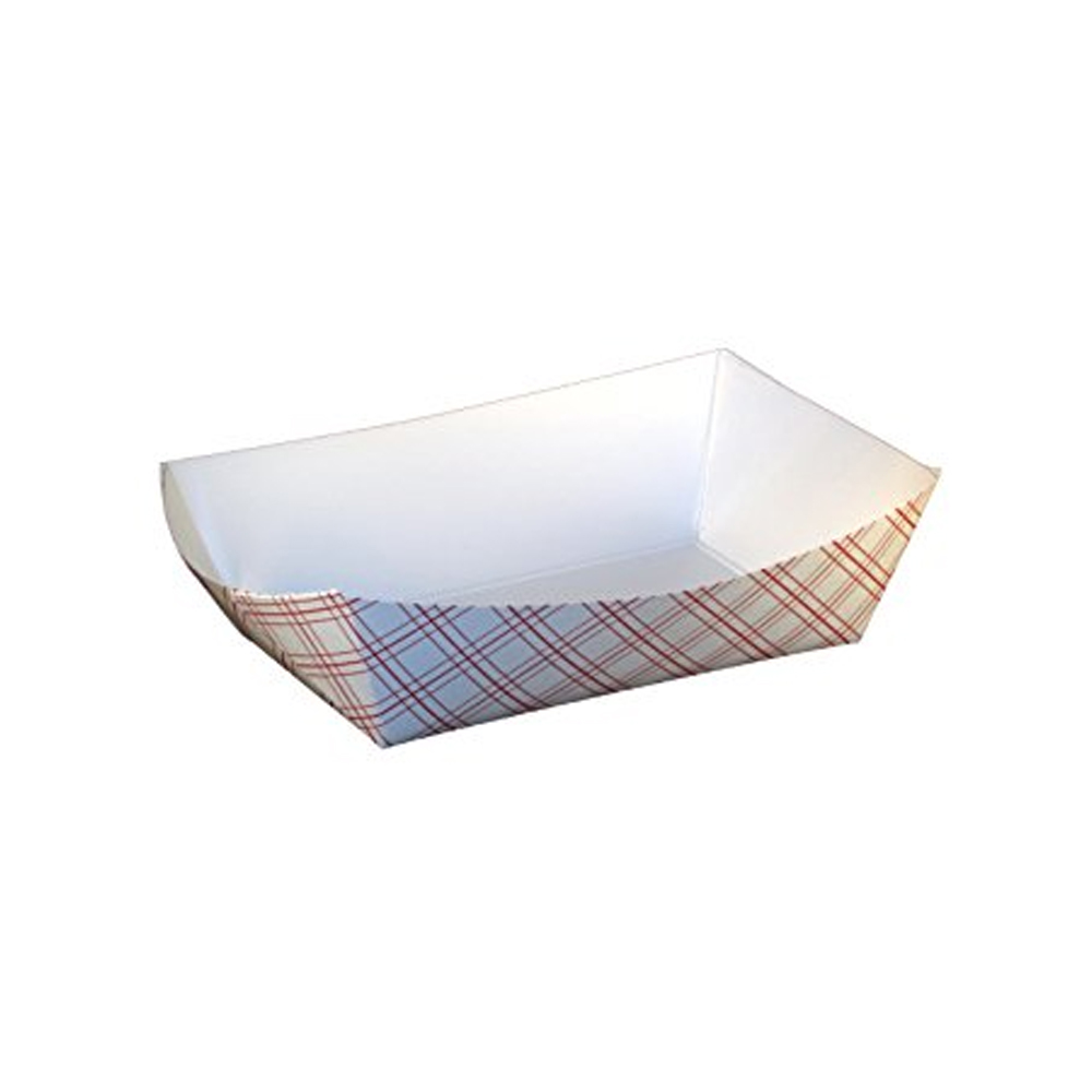 Specialty Quality Plaid #300 Food Tray 8703