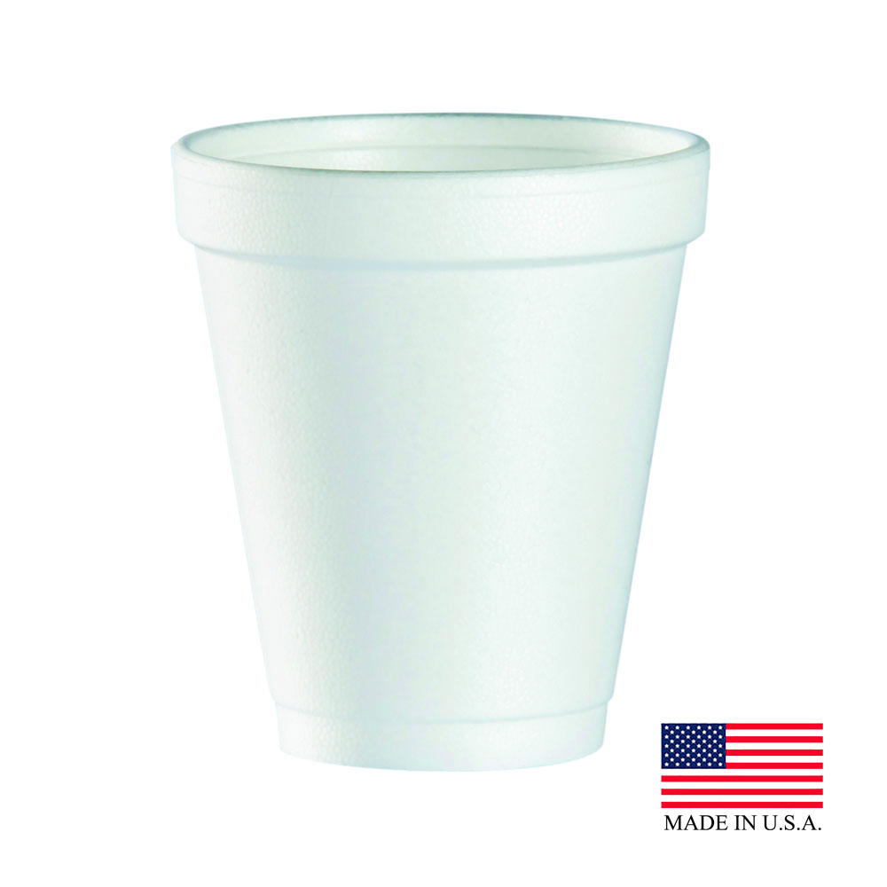 Dart White 6oz Foam Cup 6J6