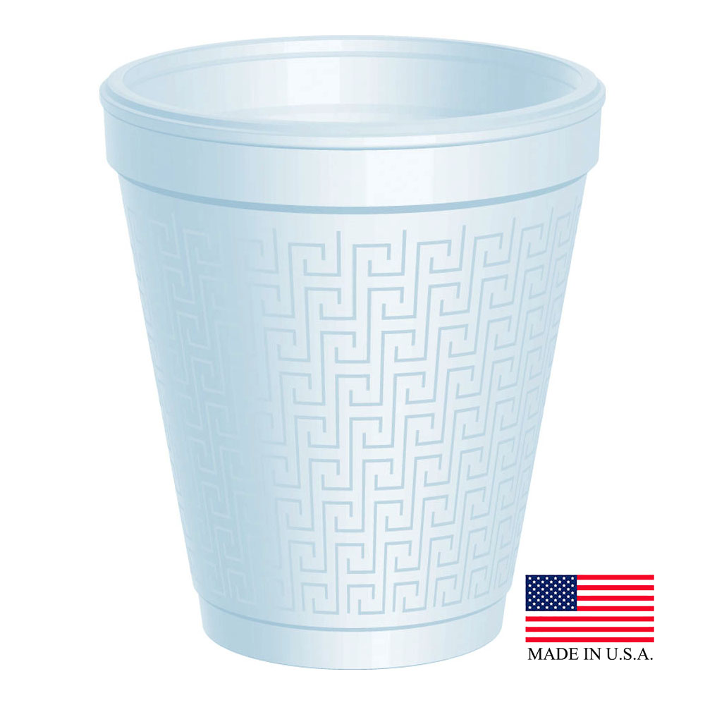 Dart White 8oz Key Foam Cup 8KY8