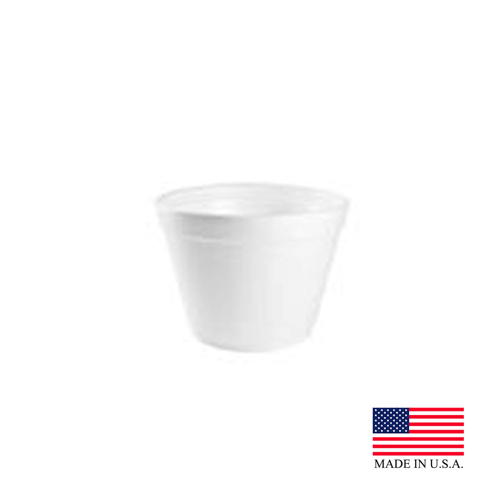 Dart White 16oz Extra Squat Food Container 16MJ32