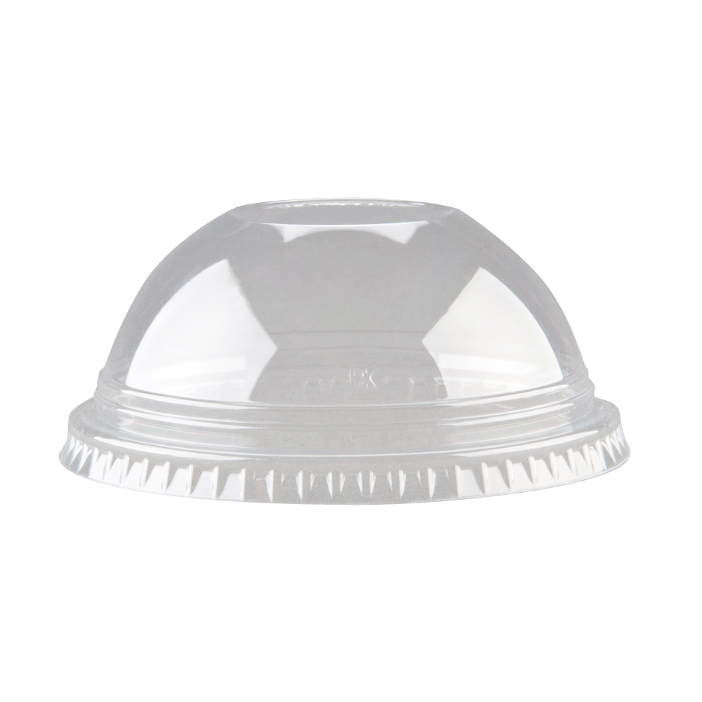 "Fabrikal Clear 12/20oz Dome Lid With 1"" Hole DLKC12/20/9508057"
