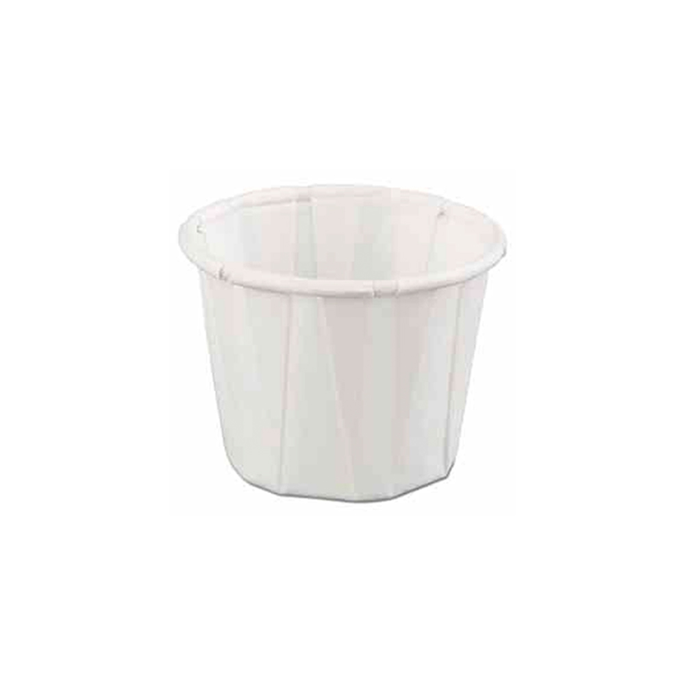 GenPack White 2oz Pleated Portion Cup F200