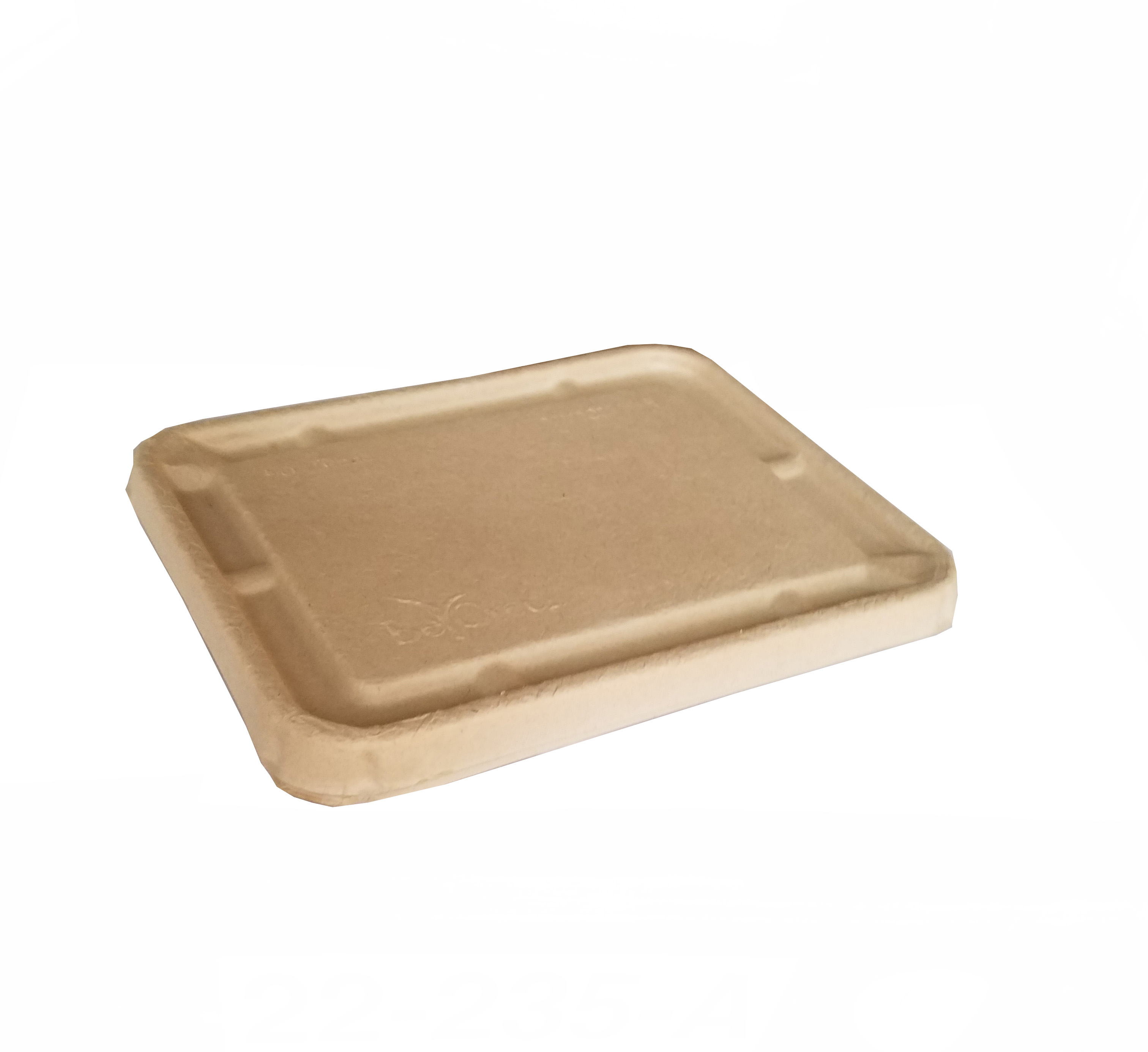Be Green Packaging Fiber Bulrush Rectangular Lid For Utility Trays BGUTBL