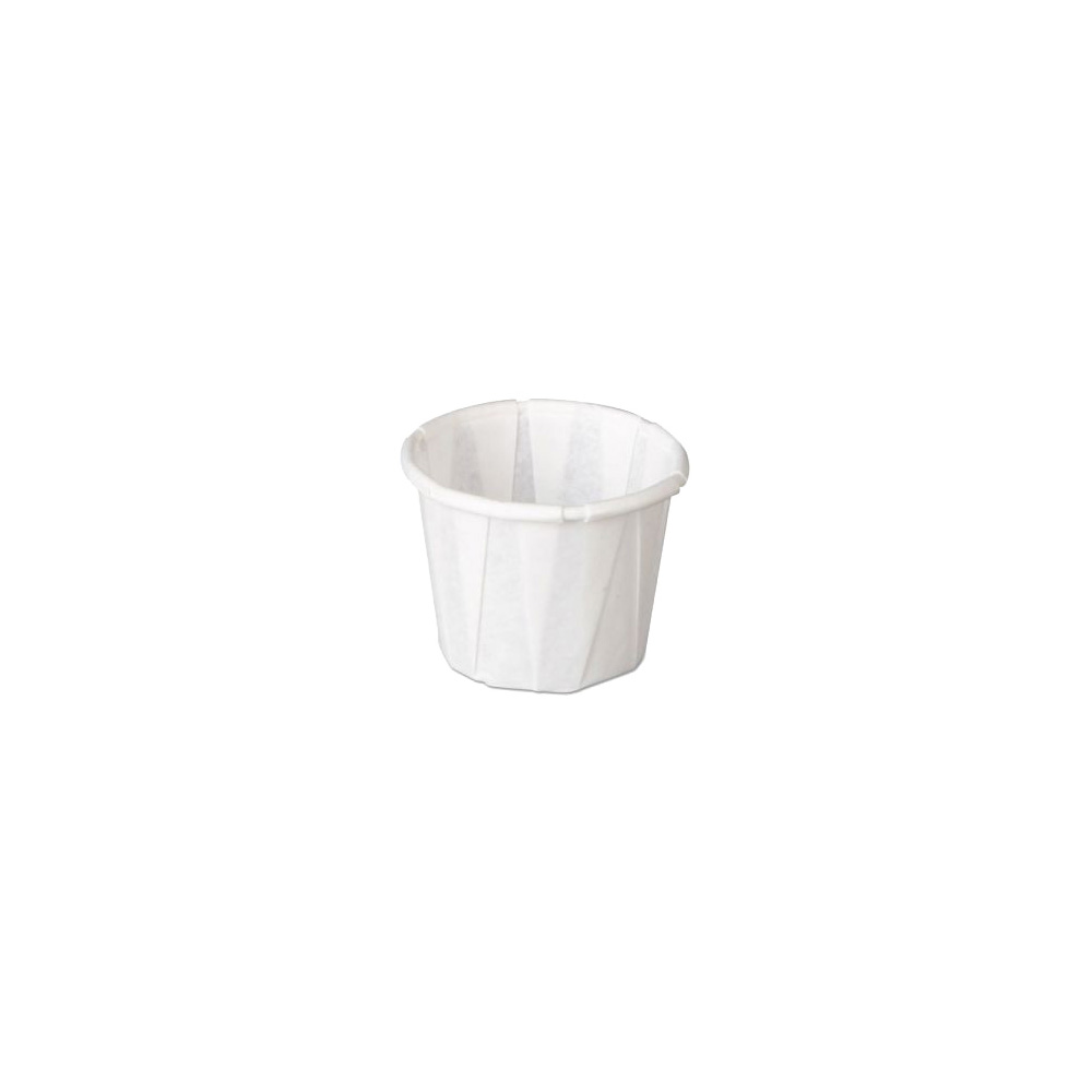 GenPack White .5oz Pleated Portion Cup F050